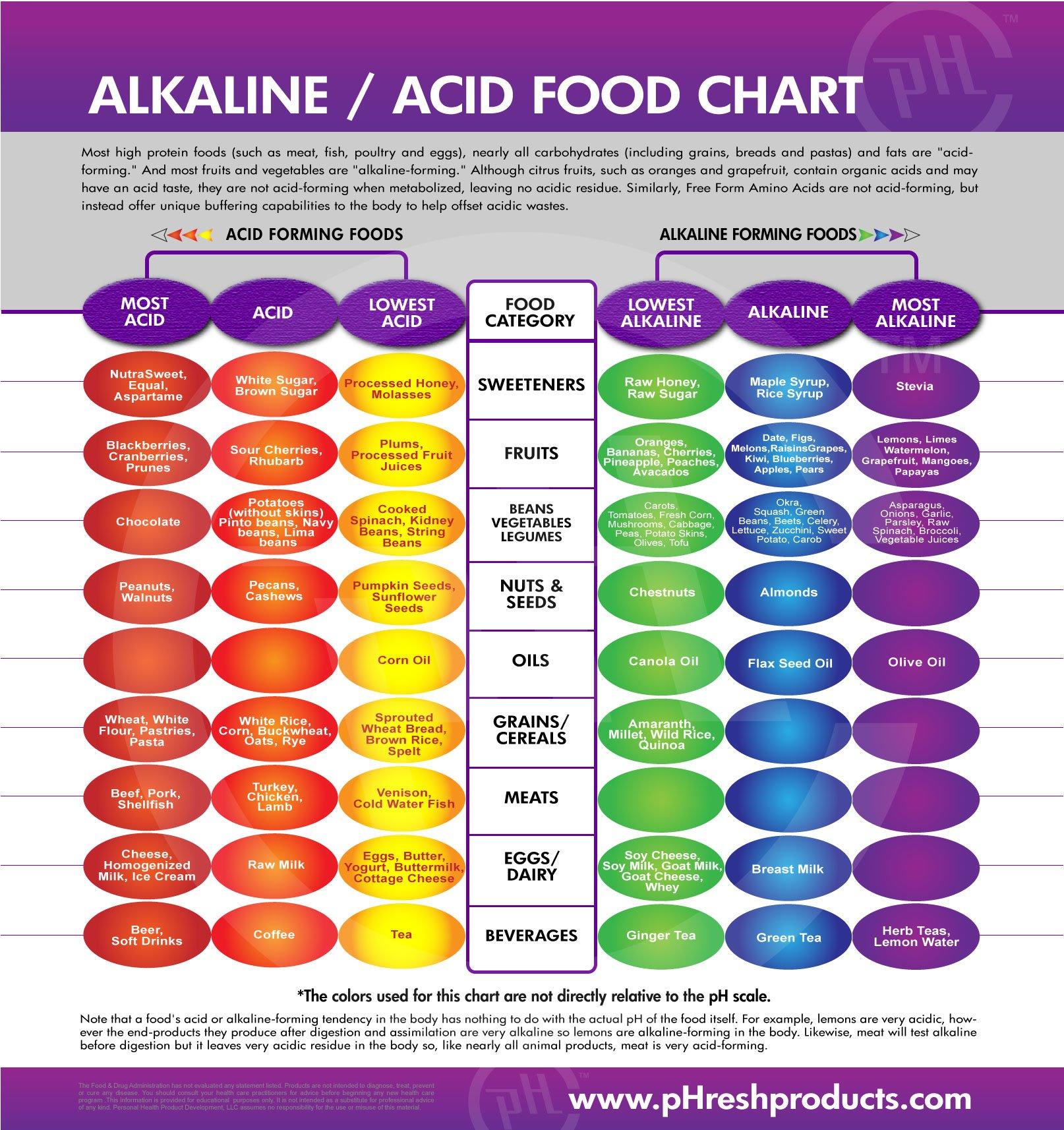 Alkaline food chart meta body mind healing foods healing